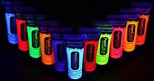 Set of 11 ~ UV Glow in Dark Body Paint Fluorescent Neon Face paint 10ml each