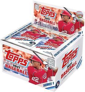 2021 Topps Baseball Series 1 Factory Sealed 24 Pack Retail Display Box