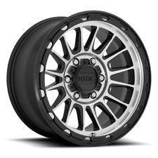 17 Inch Silver Black Wheels Rims Kmc Impact Km542 8x65 Lug Set 4 Km54278580500