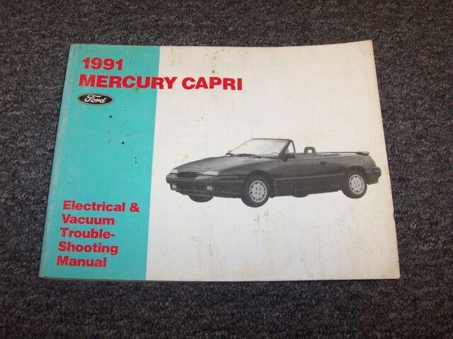 1991 Mercury Capri Convertible Electrical Wiring  U0026 Vacuum