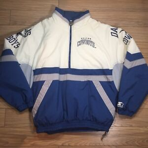 innovative design e7178 d1316 Vintage Dallas Cowboys Starter Winter Coat Jacket XL 1/2 Zip ...