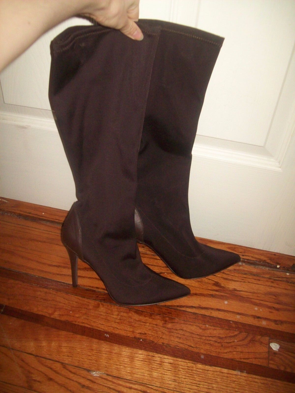 Charles by Charles David Knee High Boots Boots Boots 9 New Dark Brown Stretchy Fall Fashion be5c44