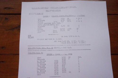1953 Fascimilie Weymouth Passenger Railway Engine Workings Western