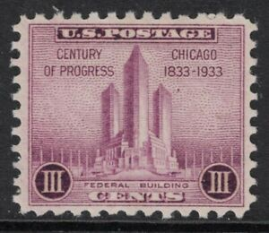 Scott-729-Mnh-Federal-Building-a-Chicago-Siglo-de-Progress-1c-1933-Mint