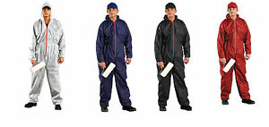Disposable-Coveralls-Overalls-White-Blue-Boilersuit-Hood-Painters-Suit-New