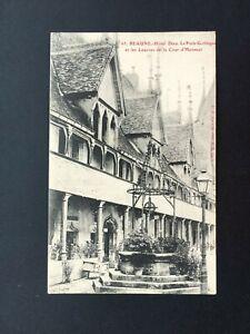Carte-Postale-Ancienne-BEAUNE-Hotel-Dieu-Le-Puits-Gothique
