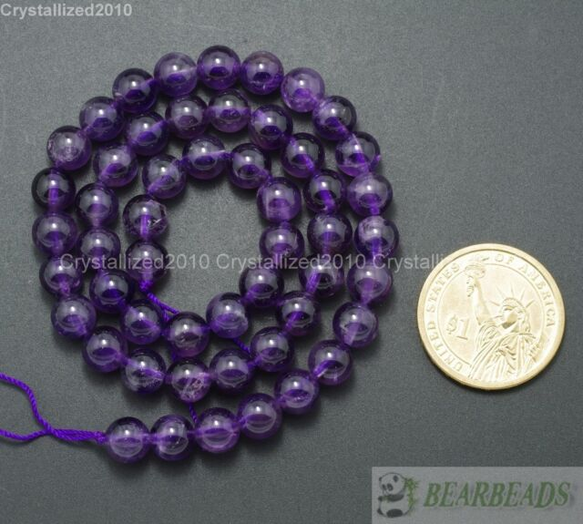 Natural Amethyst Gemstone Round Loose Beads 2mm 3mm 4mm 6mm 8mm 10mm 12mm 16''