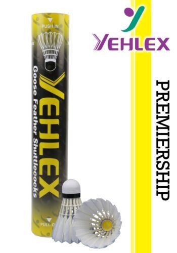 Yehlex Premiership Grau Badminton Pena Petecas-Speed 77-rrp £ 40