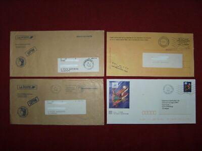 4 Briefe Aus Frankreich, Freimachungsstempel / -vermerk