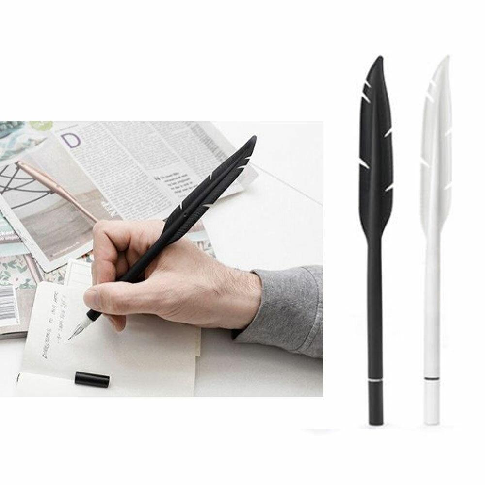 2 Kikkerland Feder Gel Stift Tinte Silikon Gummi Weiß Black Schule Büro Geschenk