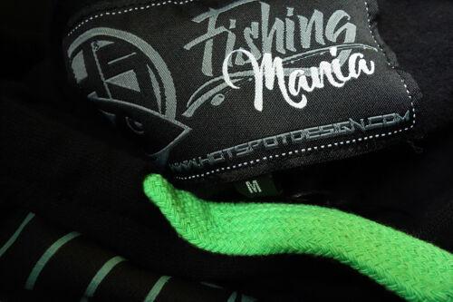 Hotspot Design Hoodie Fishing Mania Black Bass Kapuzenpullover Angelsweater