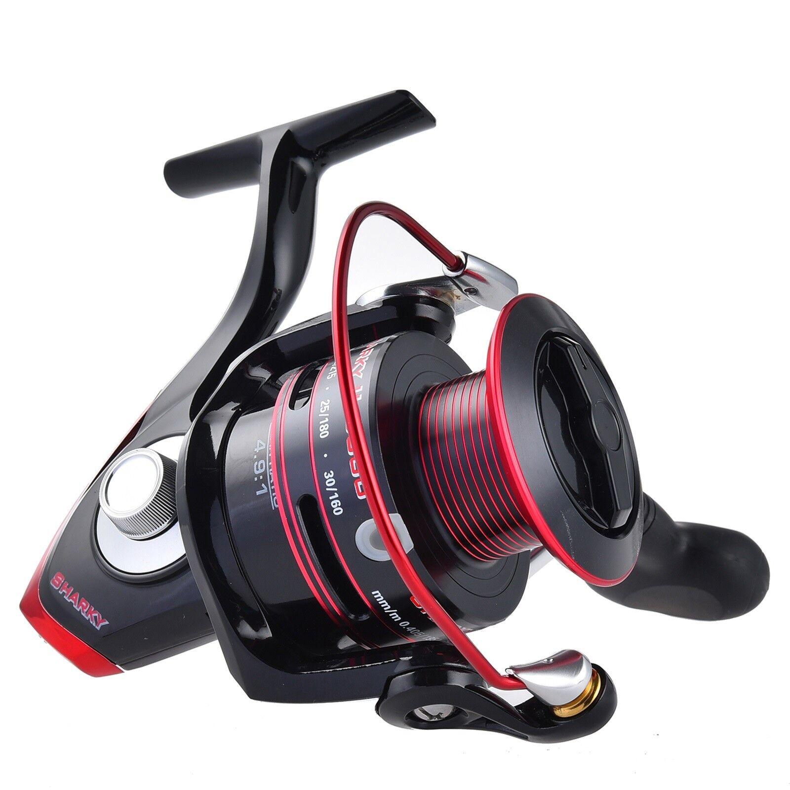 KastKing Sharky II Spinning Fishing Reels Size 1500 to 8000 48.5 LB Max Drag
