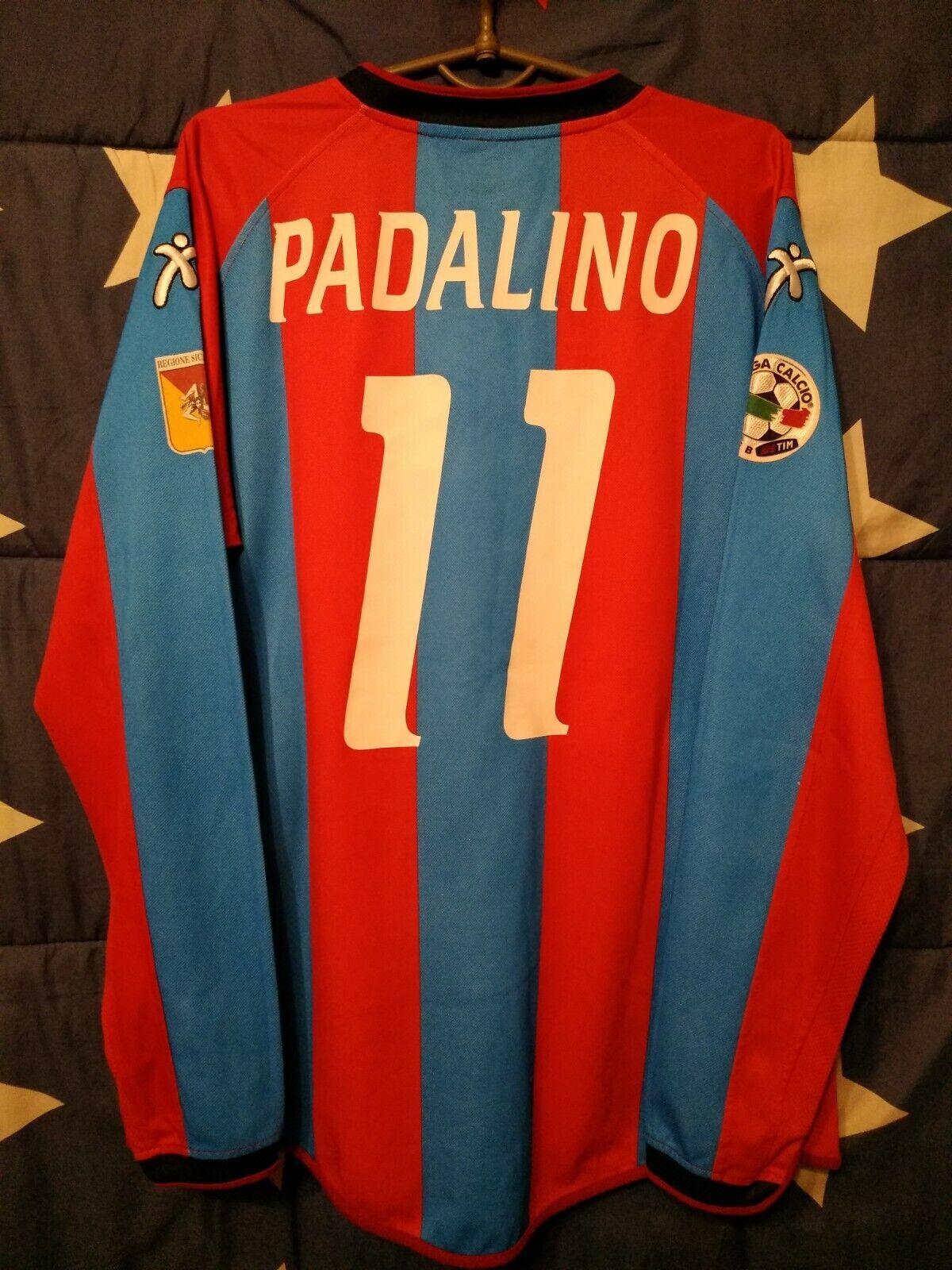 Catania  2004-2005 Match Issue Home Football Long Sleeve Shirt Padalino  11
