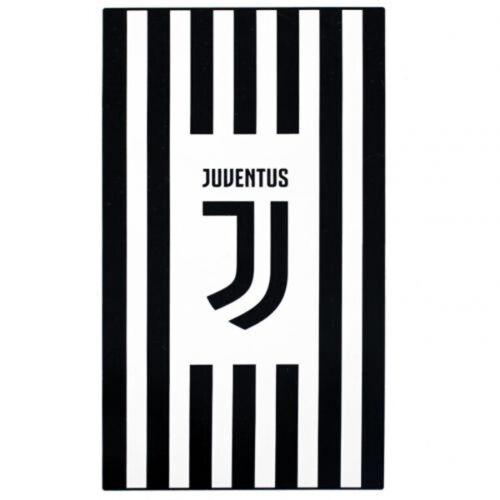 Offiziell Juventus Fußball Vereinslogo Schwarz und Weiß Strandbad Badehandtuch