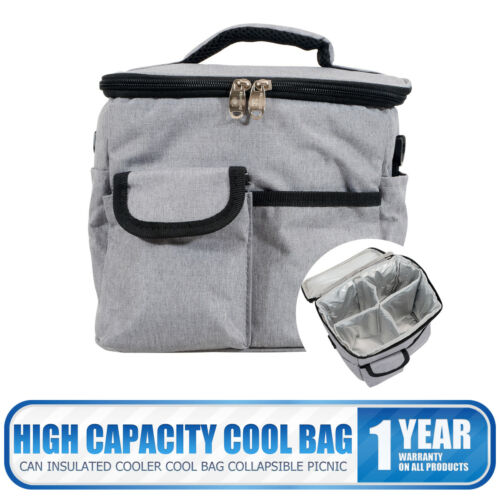Insulated Lunch Bag Meal Prep Case Cooler Lunch Box Tote School PicnicWork Gray