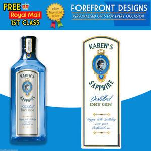 Personalizado-Gin-Etiqueta-De-Botella-Ideal-birthday-wedding-graduation-Regalo