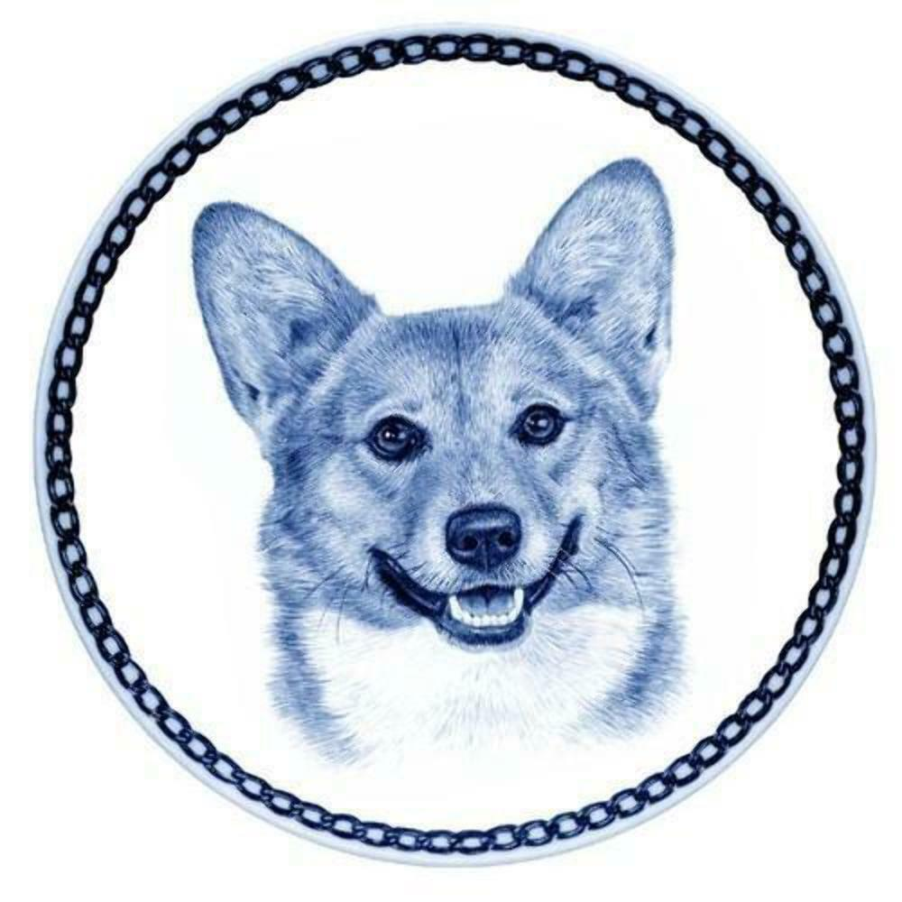 Welsh Corgi Pembroke - Dog Plate made in Denmark from the finest European Porcel