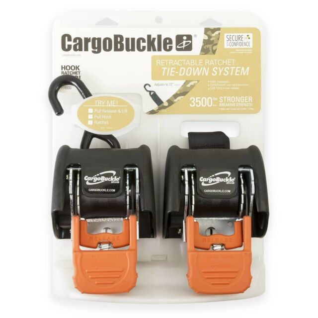 CargoBuckle F14086 S-Hook Adapter Strap for Tie-Downs 2-Pack