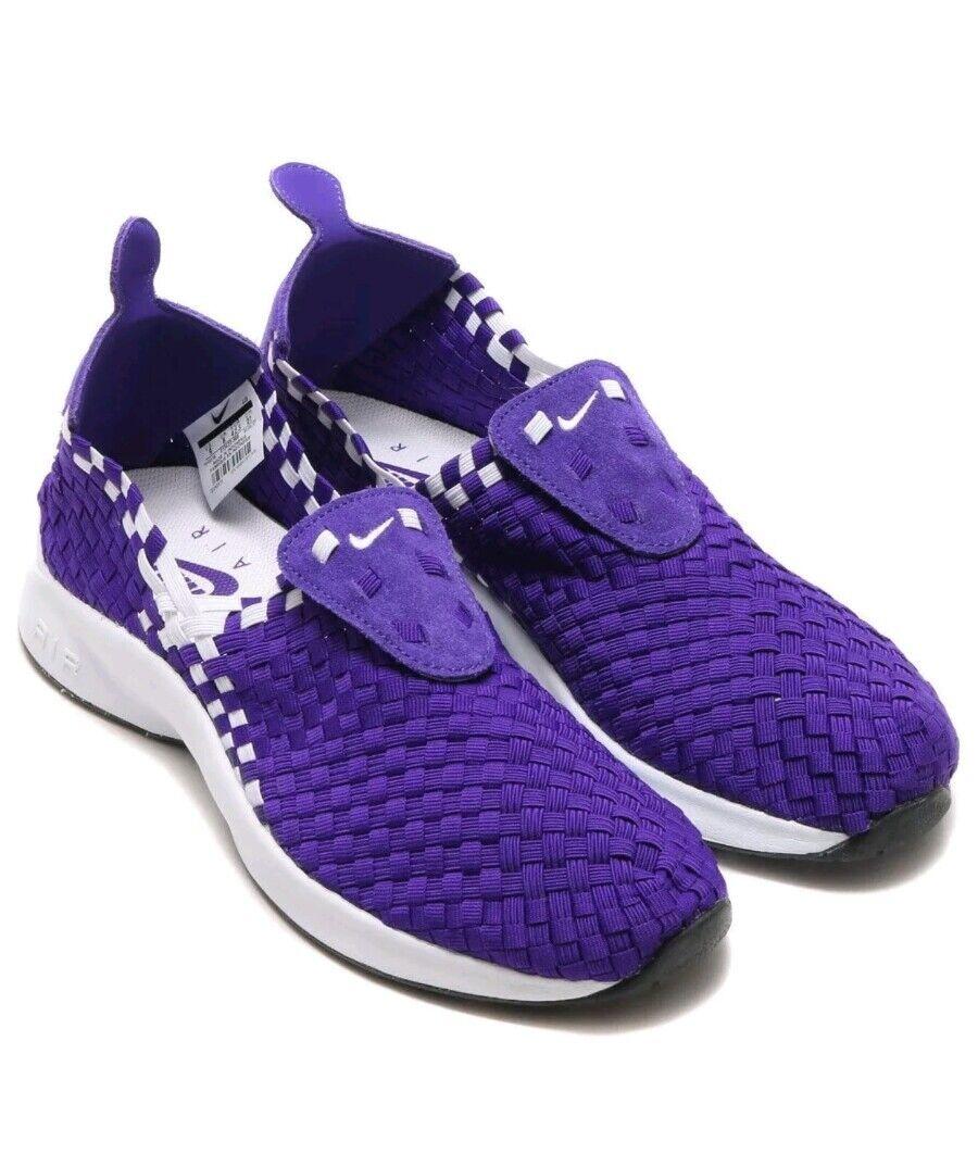 Nike Air Woven Court Purple Purple Purple Mens Shoes Slip-On [312422-500] Size 9 9540b9