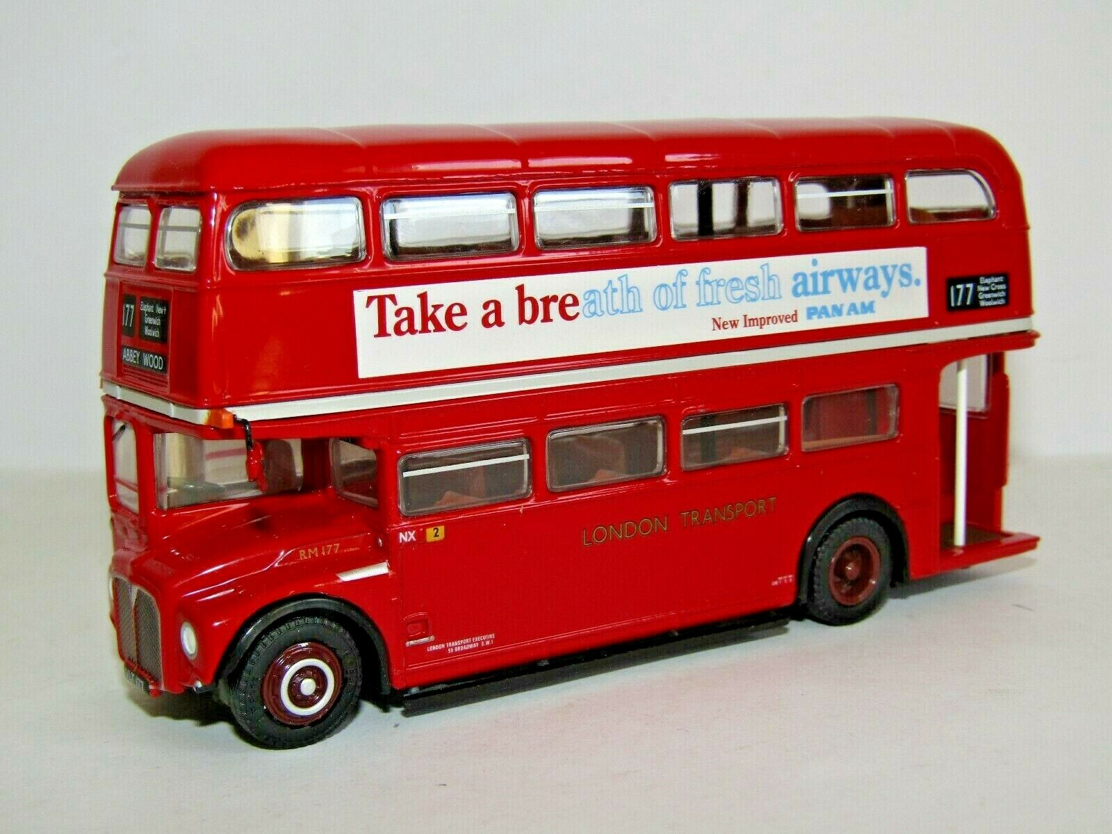EFE RM ROUTEMASTER BUS LONDON TRANSPORT ROUTE 177 ABBEY WOOD 1 76 31515