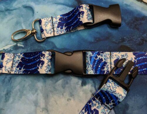 Great Wave off Kanagawa Hokusai Lanyards keychains 2 Packs Katsushika Japanese