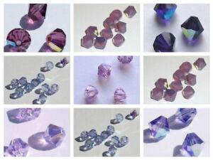 24 pcs Swarovski 3mm GARNET Bicone Faceted Beads