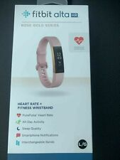 Genuine Fitbit ALTA HR Special Edition 22k Pink Rose Gold Tracker Large
