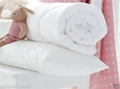 Hospitable New Cot Bed Duvet Quilt With Free Cot Pillow Nursery Baby Toddler Anti Allergy