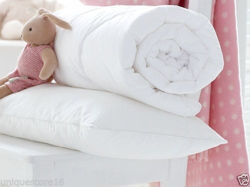 BABY COT BED DUVET QUILT WITH FREE COT PILLOW NURSERY BABY TODDLER ANTI ALLERGY