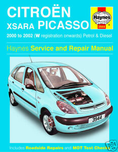 haynes manual citroen xsara picasso 00 02 ptrl dsl 3944 ebay rh ebay co uk Citroen Xsara Picasso Exclusive Citroen Xsara Picasso Problems