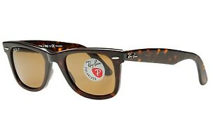 00a6412486 Image is loading POLARIZED-NEW-Original-RAYBAN-WAYFARER-Tortoise -Havana-Brown-