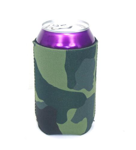 50 Blank Neoprene Beverage Insulators//Can Coolers-Green Camo