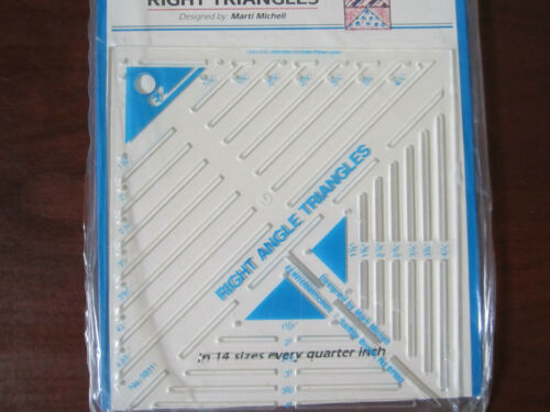 EZ Quilting Quilt Template Right Triangles 14 Sizes ~ New In Package