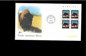 2001-First-day-Cover-Bison-Washington-DC