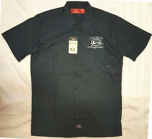 New custom dickies black embroidered chevrolet impala logo for Embroidered dickies work shirts