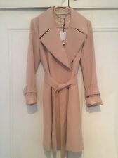 DVF Wrap Coat Blush Pink Small NWT Belted Wide Collar