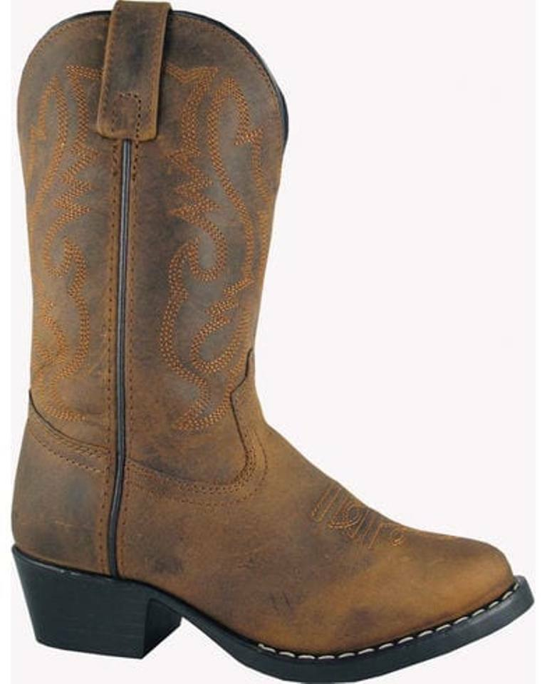 SMOKY MOUNTAIN KIDS DENVER OILED BROWN COWBOY  BOOTS 3034 YOUTH REG & WIDE SIZES  cheapest price