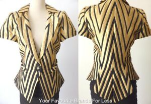 CUE-Women-039-s-Jacket-Retro-Style-Short-Sleeve-Made-In-Australia-Size-10-US-6