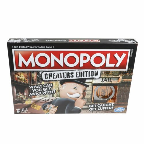 Monopoly Cheaters Edition Board Game Family Fun Night Twist Cheat Card Party Toy