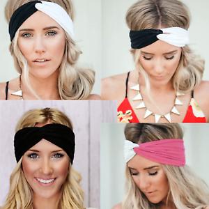 Haarband Damen Stirnband sommer Stretch Bandana Kopfschmuck strick Sport Knoten