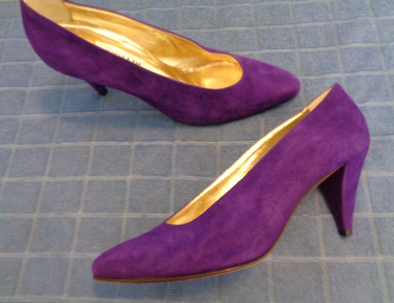 Mint PANCALDI Womens  Dress Dress Dress shoes size Purple Nubuck High Heel    Size 7N 772f43