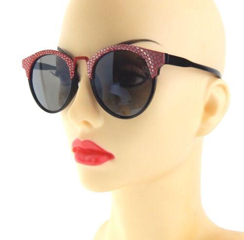 Ella Jonte Lunettes de soleil noir rouge CAT EYES Cateye lunettes Femme UV 400