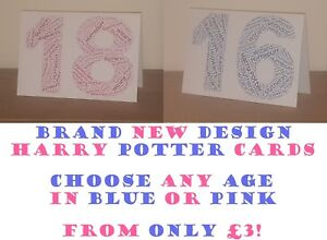 Image Is Loading New HARRY POTTER Birthday Age Cards Word Cloud