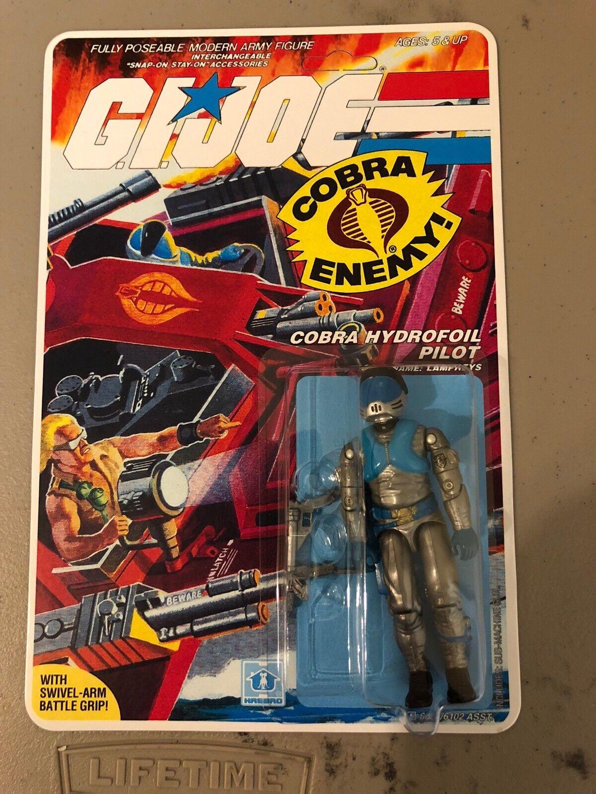 Gi Joe Cobra 1985 Personalizado lampreas Moc [34 atrás] ENLOMADOR, Repro vuelva a cerrarla, Menta