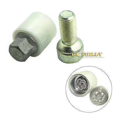 Precision Wheel Lock Bolts for use with 20mm Spacers on Aftermarket Śkoda Octavia Mk2 Alloys Part No B1445205