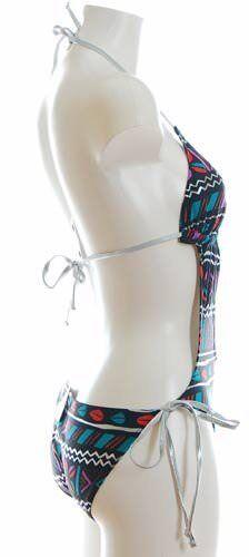 K904 EYE-ALPIN Bandeau-MONOKINI Bikini schwarz silber bunt M