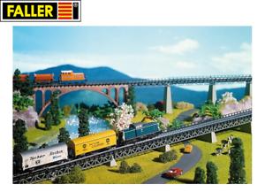 Faller-N-222540-4-Auffahrtsteile-gerade-NEU-OVP