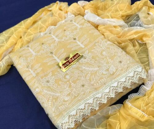 Unstitched Dress Material New Salwar Kameez Anarkali Heavy Dupatta Suit ethnic
