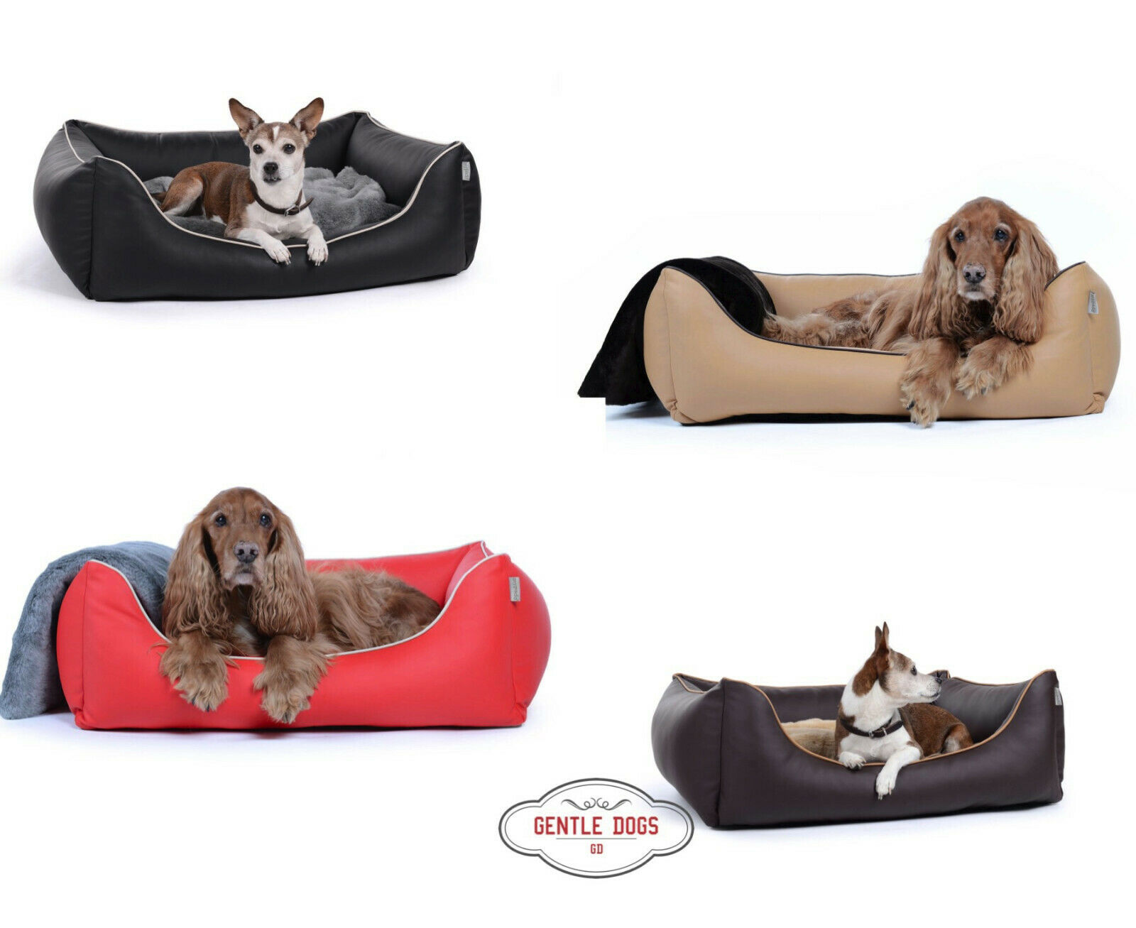 Hundebett Modell Worldcollection Kunstleder von Padsforall gratis Versand
