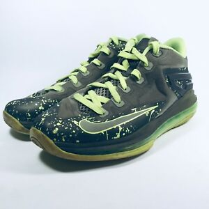 835c29a9014 Nike Air Max Lebron XI 11 Sneakers Shoes Low-Top 644534 Grey Green ...